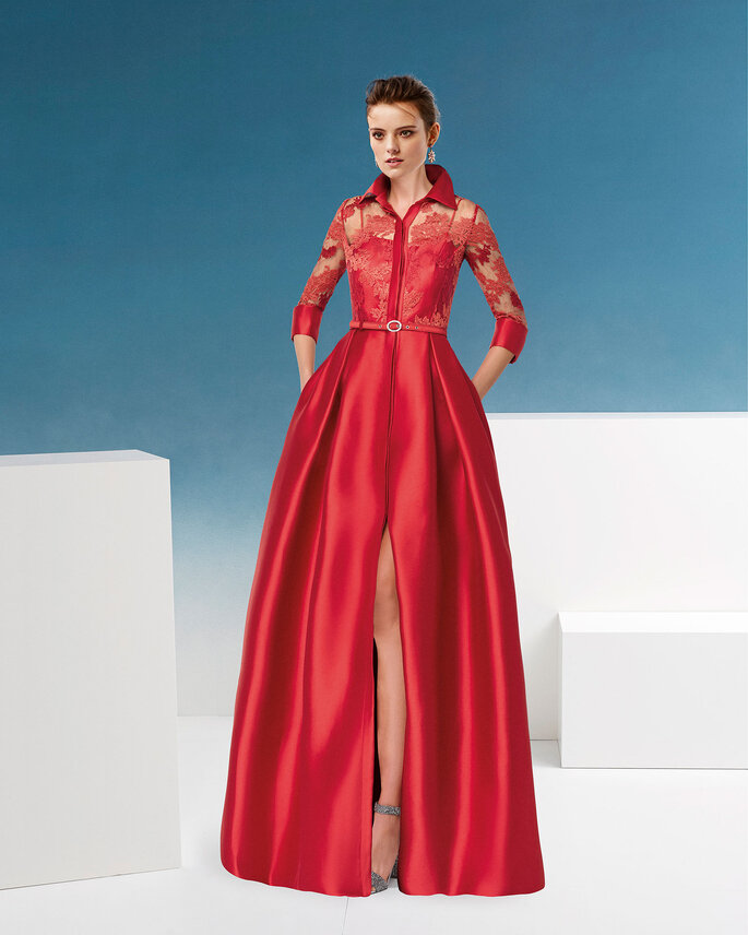 Robe de soirée rouge originale