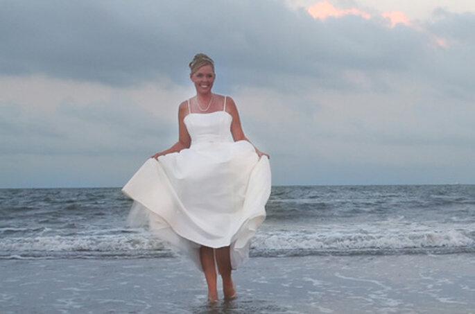 Chaussures de mariée en plastique
