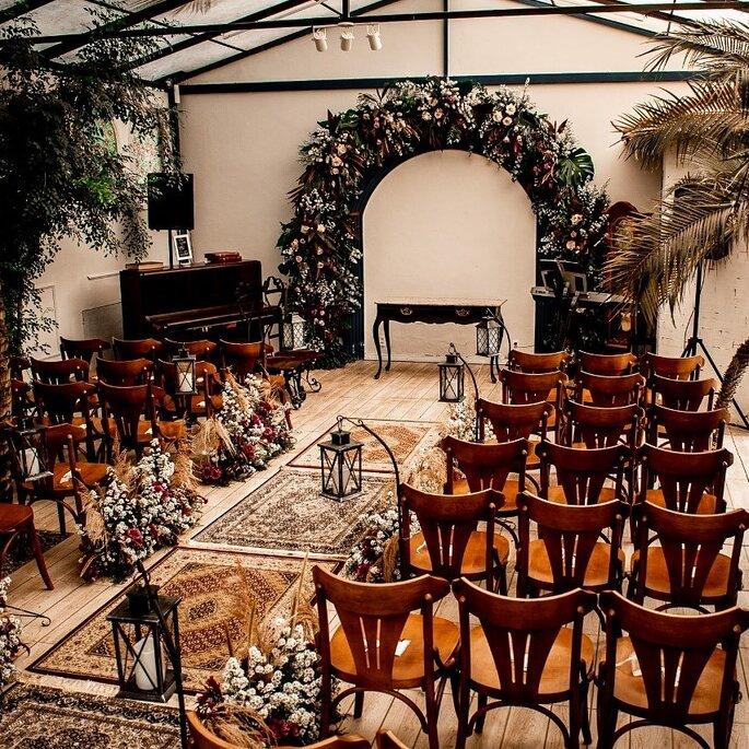 arco de flores cerimonia casamento