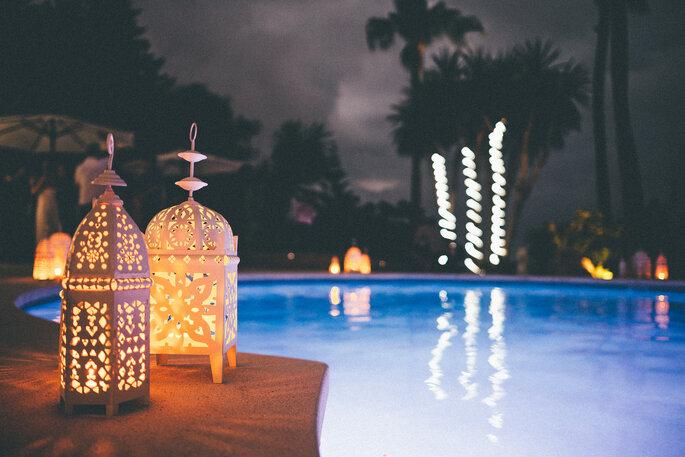 orientalische hochzeit am pool