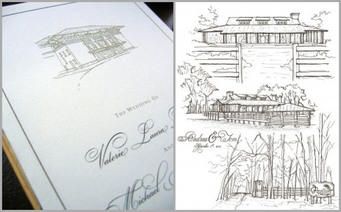 Custom Architectural Sketch Drawings from Etsy seller PointDeVue