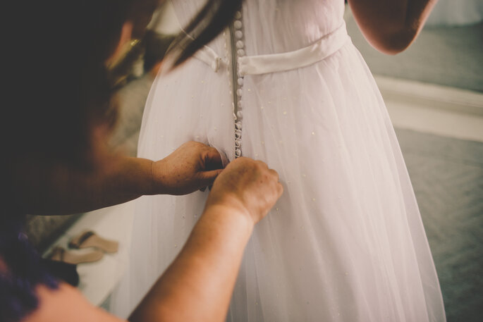 Vestido de noiva: Atelie Gloria Almada | Foto: Tiago Silva