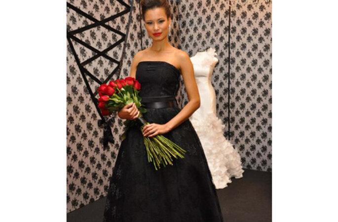 Vestido de noiva preto - Solaine Piccoli