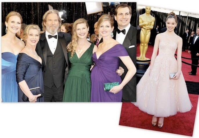 De izquierda a derecha: Jeff Bridges & family, Hailee Steinfeld