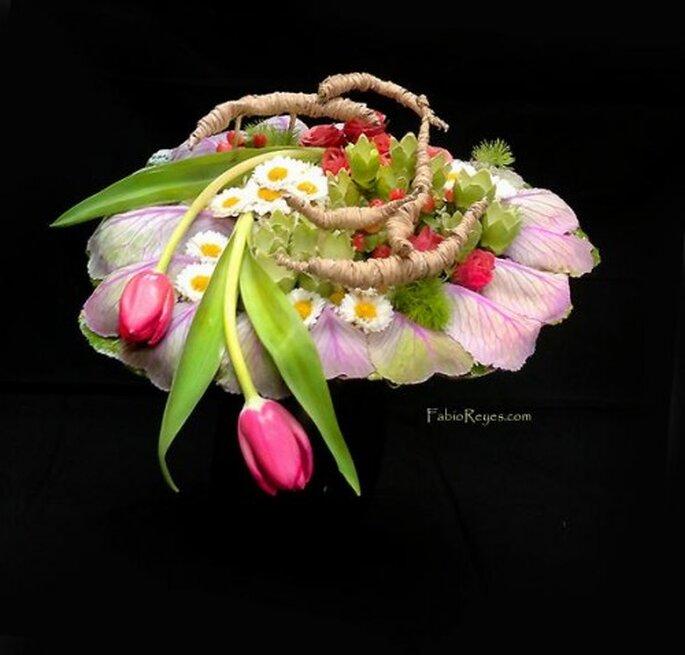 Moda en ramos de novia. Foto de Favio Reyes, diseño en flores.