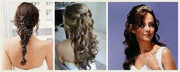 Algunos peinados para novias sin velo