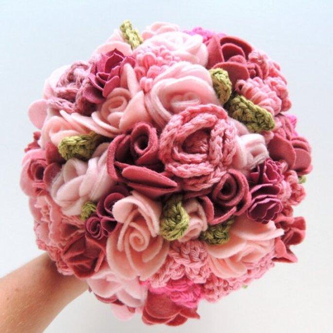 Bouquet en crochet et laine