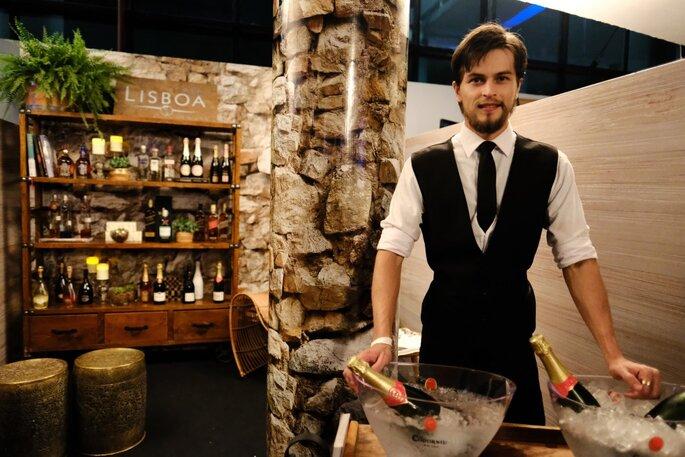 Casa Lisboa Bebidas marcou presença no Casamoda Noivas. Foto: Namour Filho