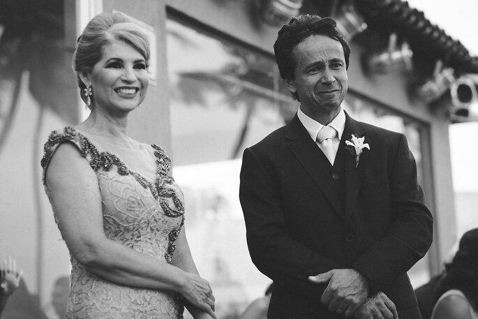 Mãe da noiva e pai do noivo