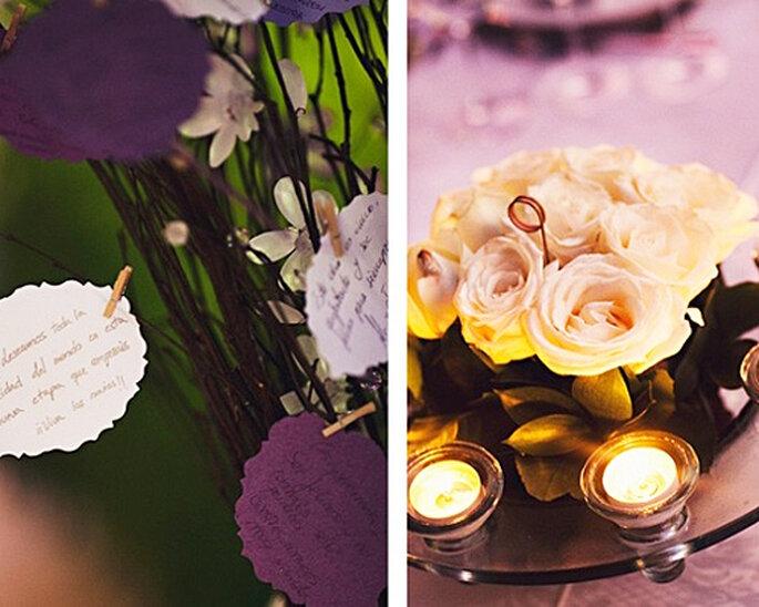 Arreglos florales originales para tu boda - Foto: Attitude Fotografía