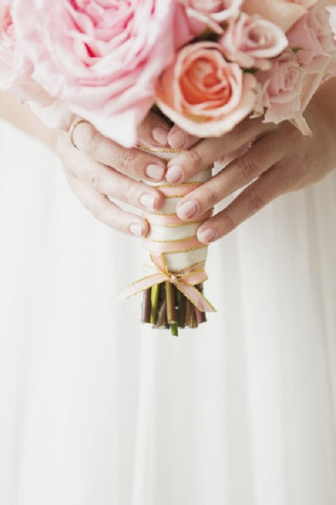 Il bouquet per la sposa. Foto: Vicky Starz via stylemepretty.com