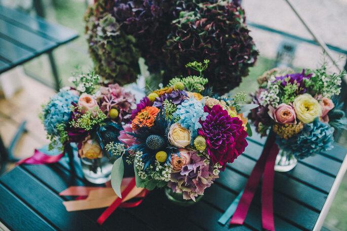 Fleurs de mariage colorées