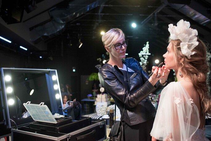 Ai pennelli, Barbara del Sarto Make-Up Artist - Foto @ Franco Lops e Paolo Araldi