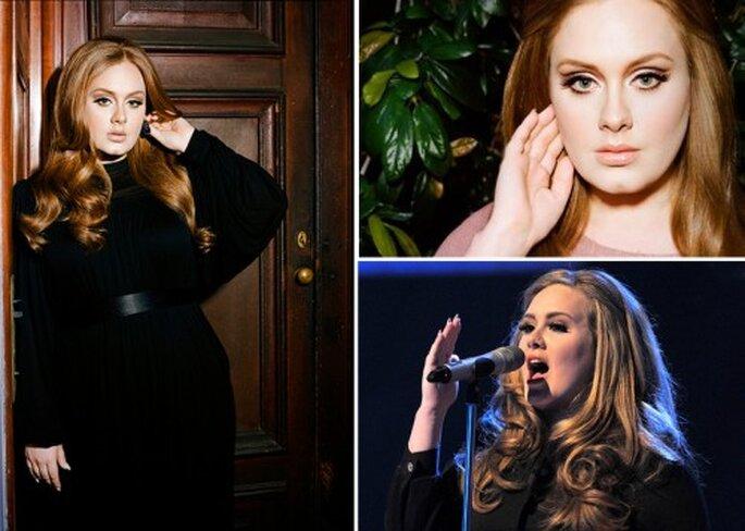 Inspiracion en la cantante Adele para el look de novia - Foto sitio oficial y Facebook de Adele