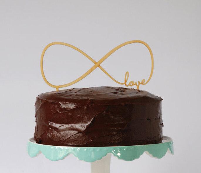 Cake Topper Love - Foto Etsy