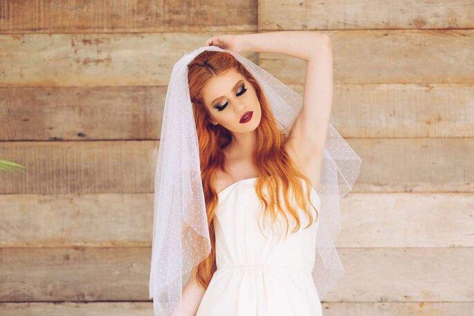 Véu de noiva mais moderno - Nina Russo Atelier – Foto: Divulgação