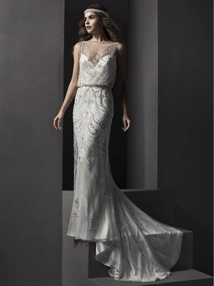 Modelo Renata de Sottero & Midgley, disponível na Noiva Lusa.