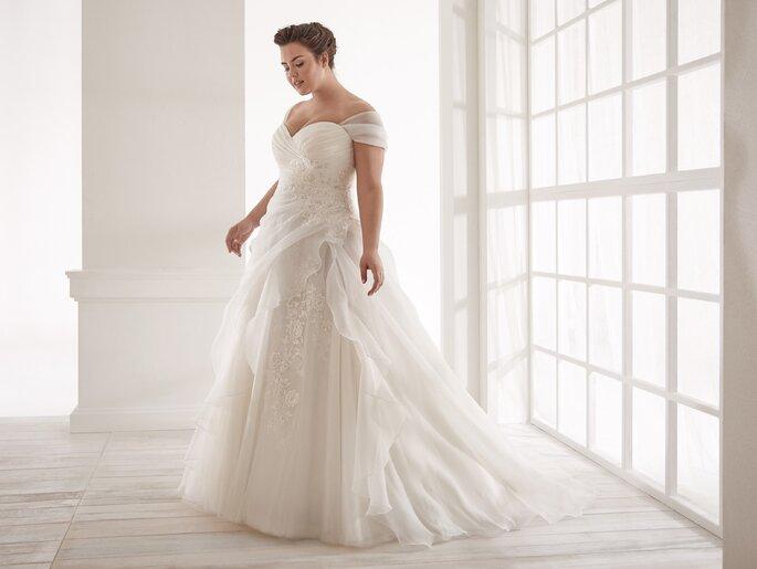 Vestido de novial XL corte princesa