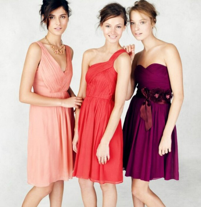 Vestidos cortos y fashion para damas de honor - Foto: J.Crew Bridesmaid Collection