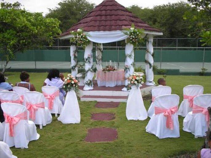 Décoration pour un mariage en plein air