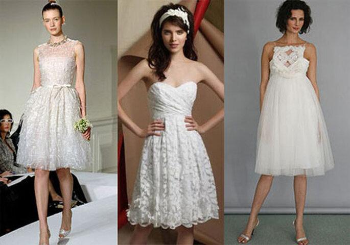 El traje de novia para el día debe ser sencillo