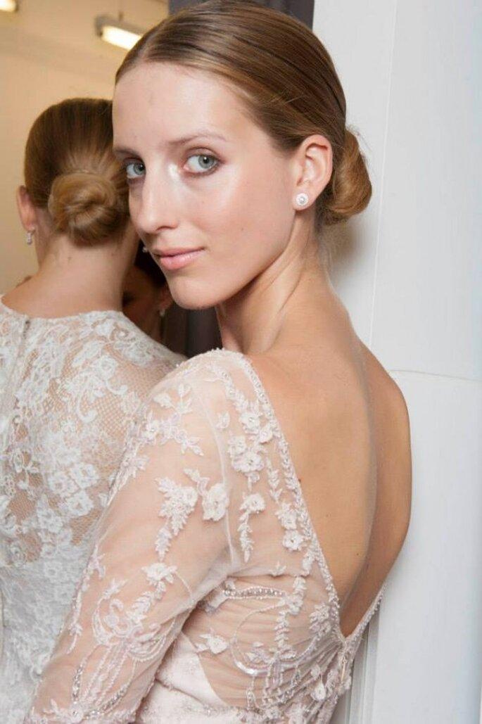 El maquillaje perfecto para una novia romántica - Foto Monique Lhuillier