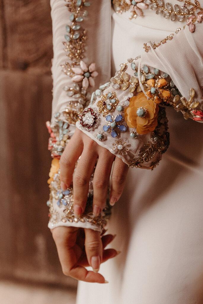 Vestido de novia con pedrería Beba's Closet