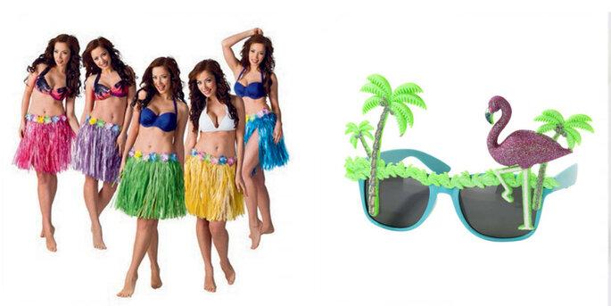 Faldas Hawaianas de colores 5 unidades