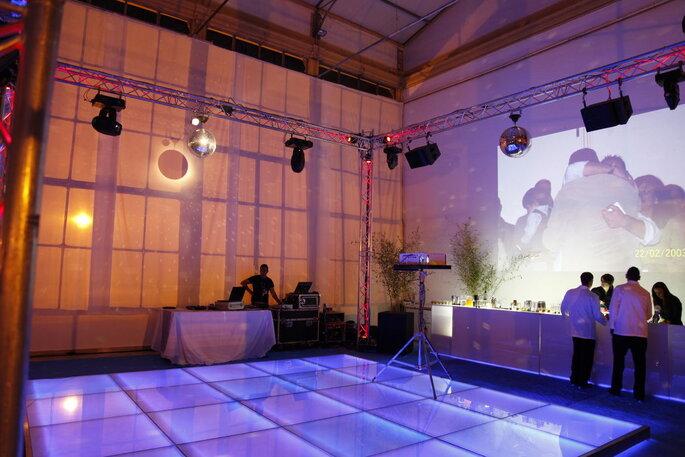 Pista de dança com LED para casamentos