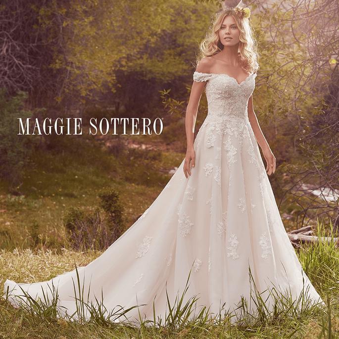 Saffron.  Maggie Sottero: Cordelia Collection.