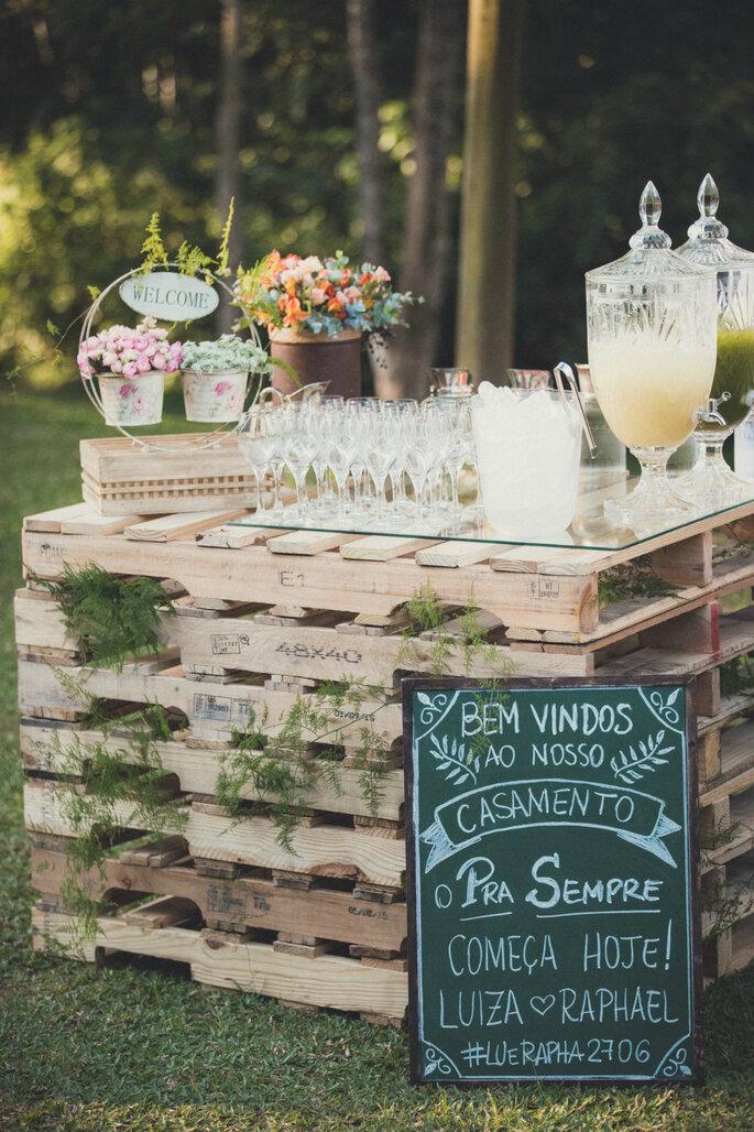 Bar rústico para casamentos