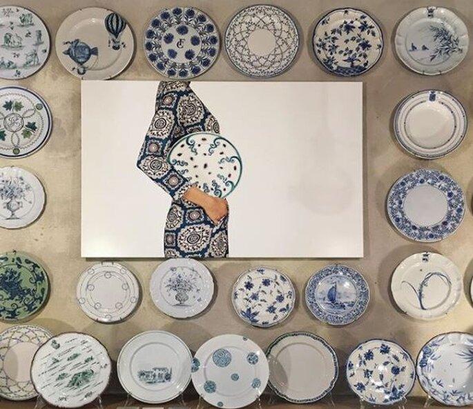 Idee rivoluzionarie per la classica dote dal Laboratorio Paravicini con piatti dipinti a mano