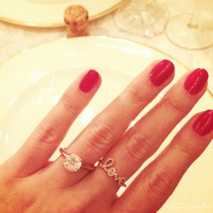 Anillo de compromiso de Lauren Conrad - Foto Blog oficial de LC