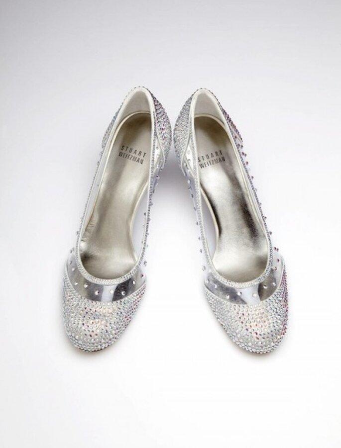 Zapatillas de novia inspiradas en La Cenicienta - Foto Stuart Weitzman