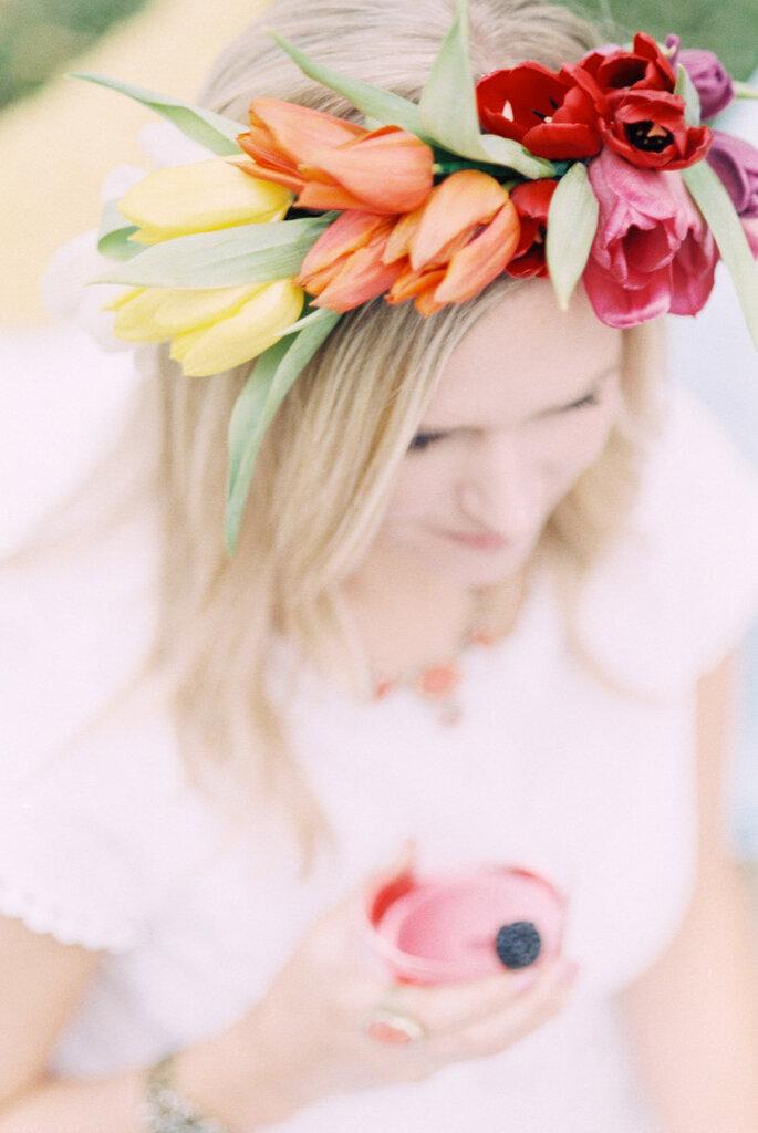 decoración con tulipanes- Lisa Dolan Photography