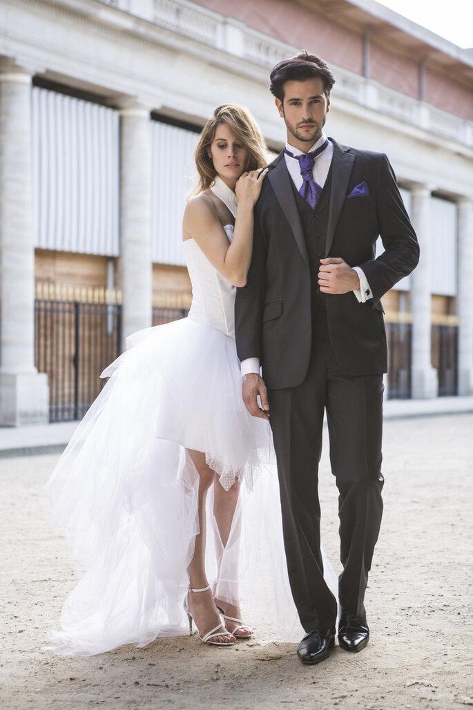 Costume de marié noir