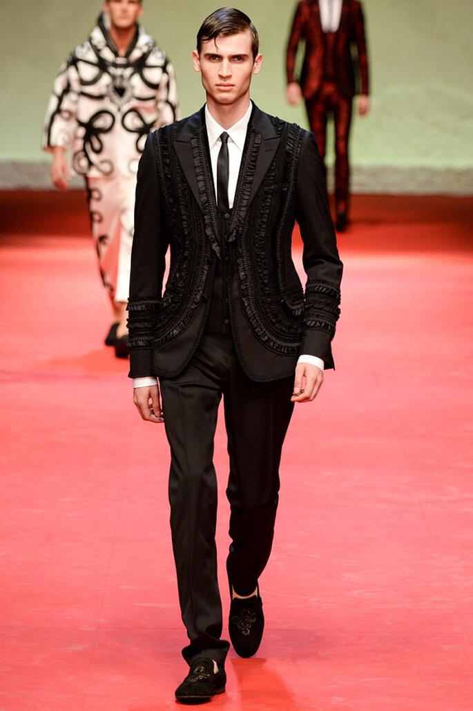 Tendencias masculinas para los novios del 2015. Foto: Dolce & Gabbana