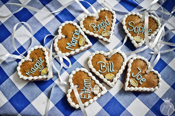 Bayrische Give-Aways: Lebkuchenherzen für die Gäste - Foto: Martina Rinke.