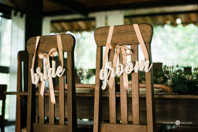 mobiliário de madeira para casamento rústico