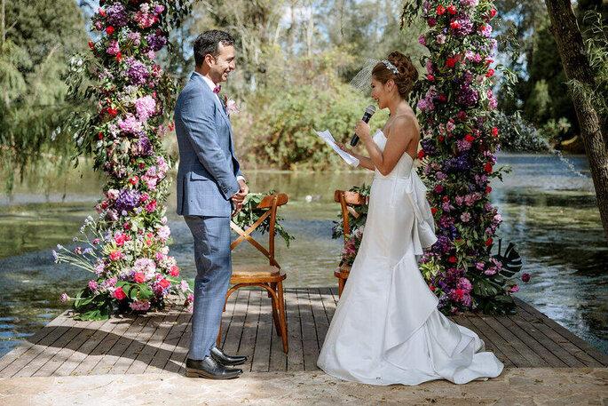Patricia Albán Wedding & Events Planner ceremonia de boda en lago