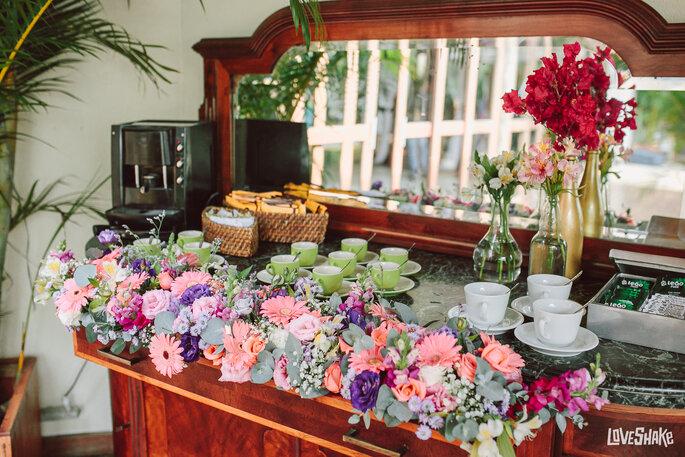 mesa de chá casamento