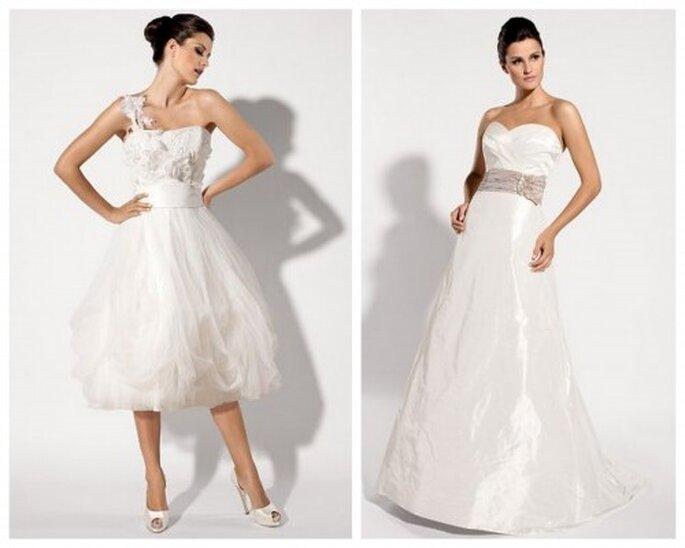 krótka suknia ślubna z pasem