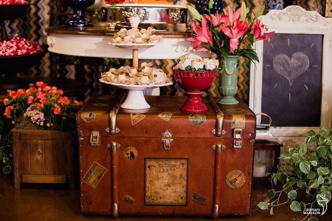 mesa doces casamento rústico