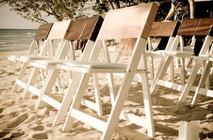 Cérémonie laïque les pieds dans le sable...