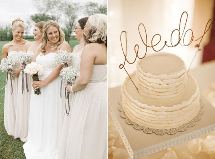 4 Tendencias en pasteles de boda 2014. Fotografìa Gabriel and Carin