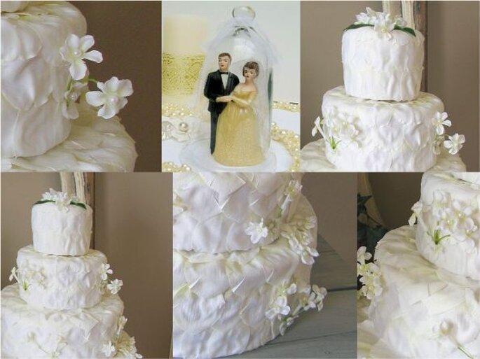 Pièce montée mariage en tissu