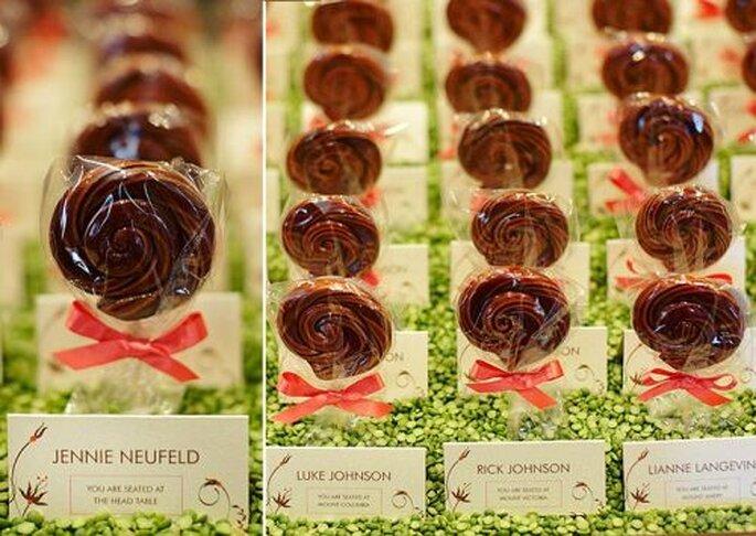 Des sucettes en cadeaux d'invités, Inspired Occasions