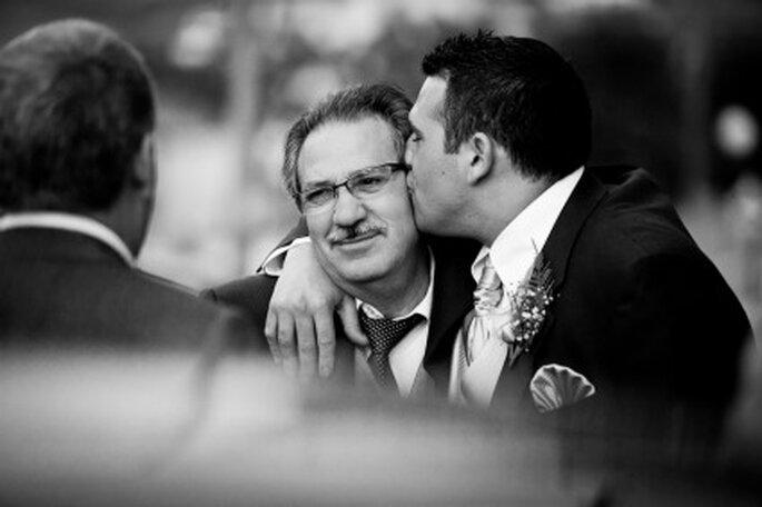 Javier junto a su padre- Foto: Valentín Gámiz