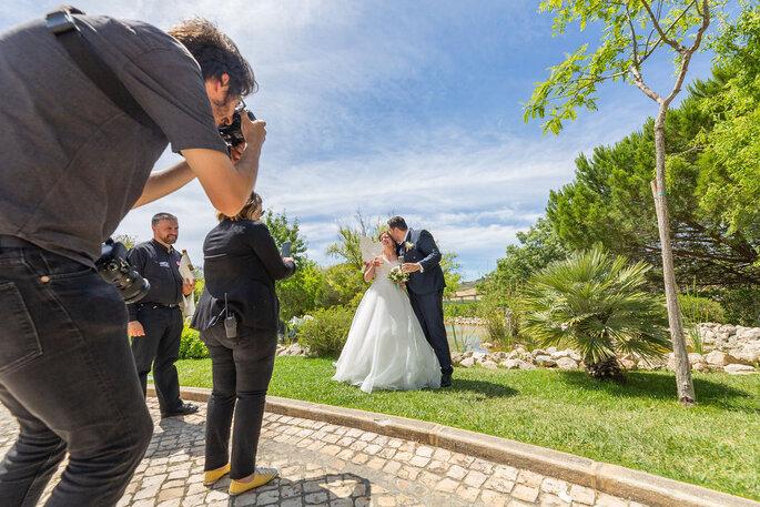 Sessão fotográfica dos noivos
