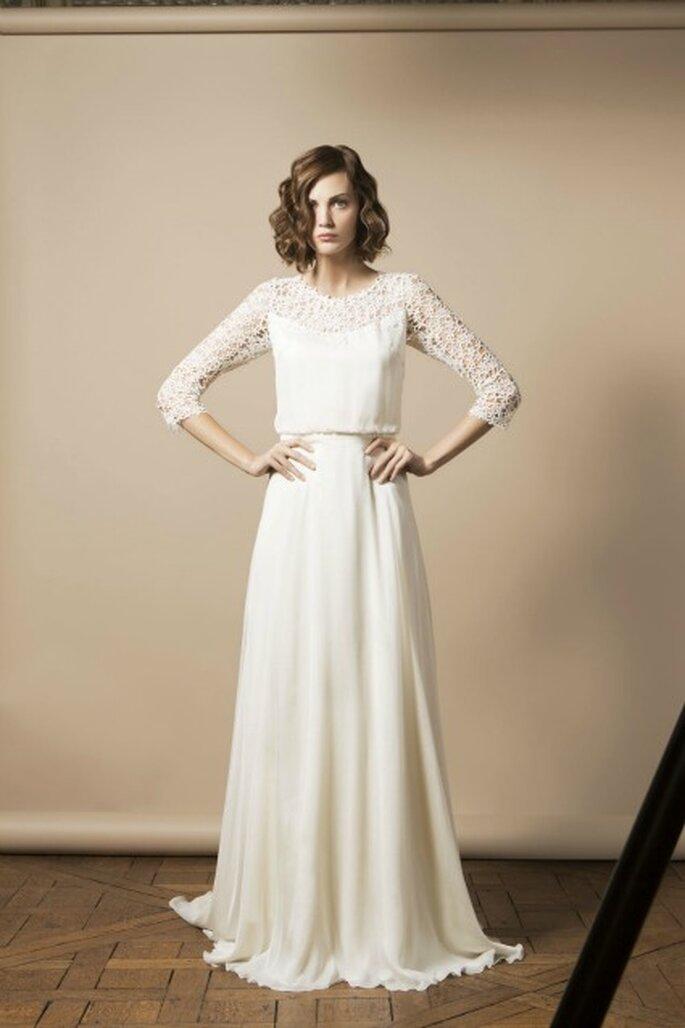 Défilé de robes de mariée au Printemps Haussmann le samedi 23 novembre - Modèle : Delphine Manivet